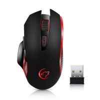 G821 Gaming Mouse Rechargeable Wireless Mouse Adjustable 2400DPI Optical Computer Mouse 2.4Hz Mice for PC Laptop