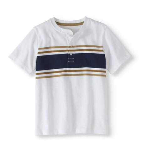 89811b34c 365 Kids From Garanimals - Boys' Short Sleeve Chest Striped Henley ...
