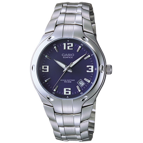 Casio Men S Blue Dial 10 Year Battery Watch Walmart Com