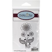 "Prickley Pear Cling Stamps 3.5""X2""-Graphic Flower"