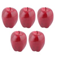 Family Table Ornament Foam Handmade Simulation Artificial Fruit Apple Red 5pcs for Christmas