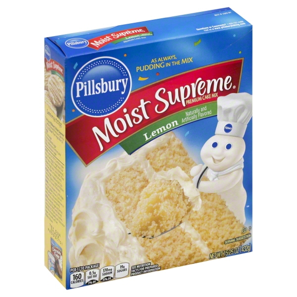 Pillsbury Moist Supreme Lemon Premium Cake Mix, 15.25 oz