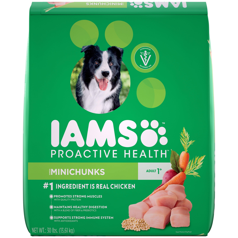 IAMS ProActive Health Minichunks Dry Dog Food, Chicken, 30 Lb