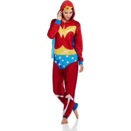 DC Comics Women s Licensed Sleepwear Adult Onesie Costume Union Suit Pajama  (Sizes XS-3X) - Walmart.com fe5311e9d