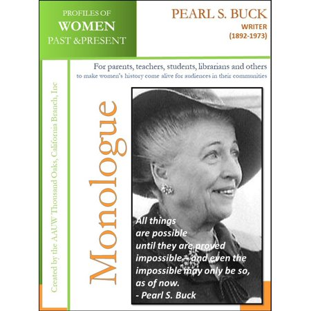 Profiles of Women Past & Present – Pearl S. Buck, Writer (1892-1973) - eBook (Pearls Buck House)