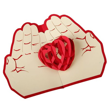3D Pop Up Cards Valentine Lover Happy Birthday Anniversary Greeting Cards