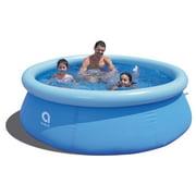 "JLeisure 8' x 25"" Prompt Set Inflatable Outdoor Kiddie Swimming Pool, Blue"