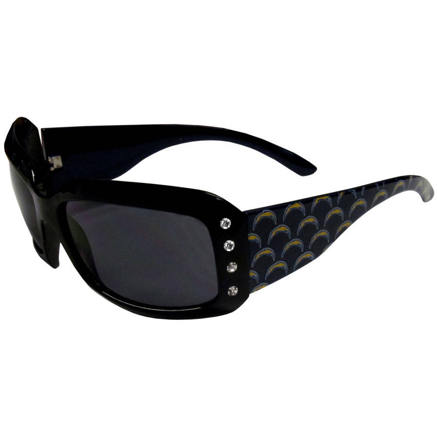 NFL San Diego Chargers Women's Designer Sunglasses with Rhinestones