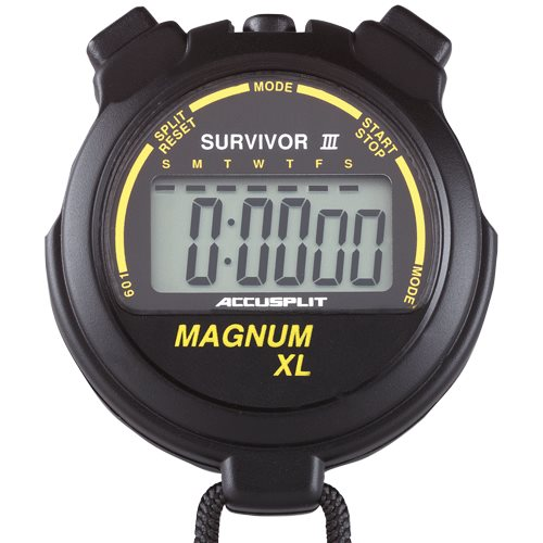 ACCUSPLIT S3MAGXLBK Survivor III Stopwatch with Extra Large Display