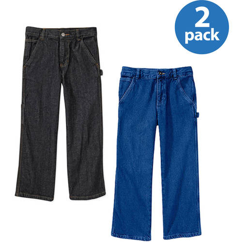 Faded Glory Boys' Carpenter Jean, 2 Pack Value Bundle