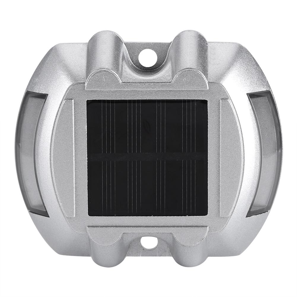 EECOO Casting Aluminum Solar Power Waterproof 6 LED Lamp Wireless Outdoor Road Driveway Pathway Light Road Lamp Solar Light