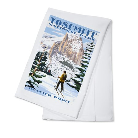 Yosemite National Park, California - Glacier Point and Half Dome - Lantern Press Artwork (100% Cotton Kitchen