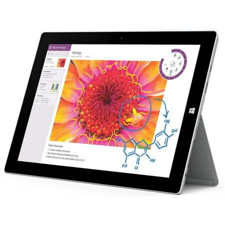 Microsoft Surface 3 128GB Intel Atom x7-Z8700 1.6GHz LTE Tablet - Silver (No Keyboard)