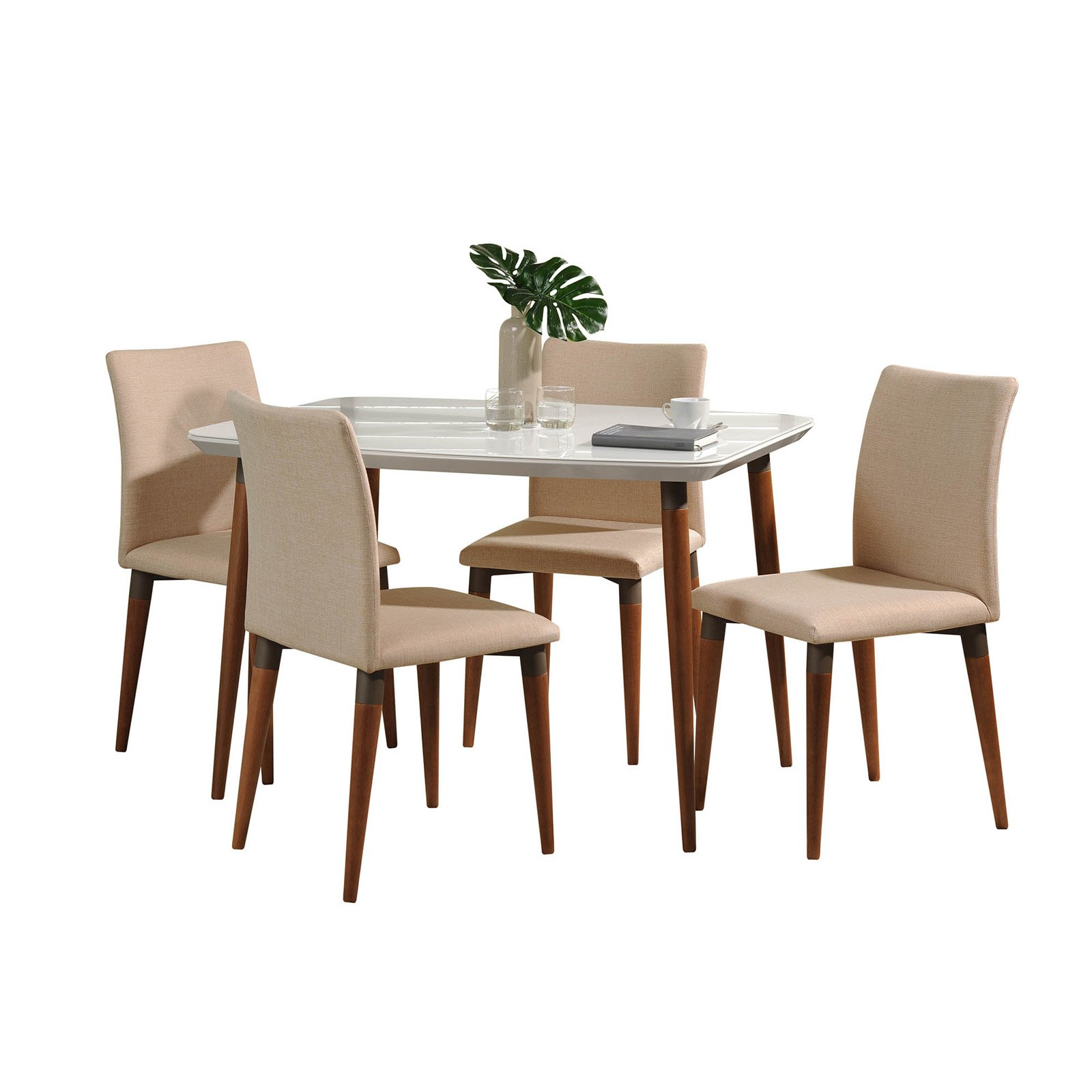 Manhattan Comfort Charles 5 Piece Dining Table Set