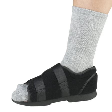OTC Women's Soft Top Post-Op Shoe, Black, Small