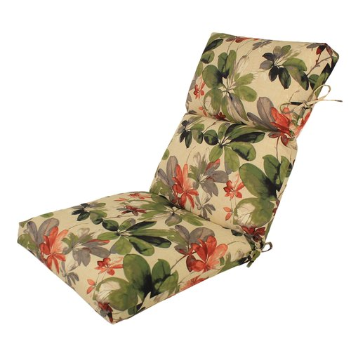 Comfort Classics Inc. Channeled Reversible Outdoor Lounge Chair Cushion