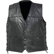 BNFUSA GFVLSGPL Buffalo Leather Concealed Carry Vest with Lace-Up Sides - Large