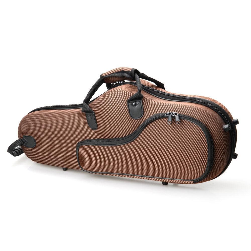Ktaxon New Saxophone Case High Grade Durable Cloth Alto Sax Box Coffee Color