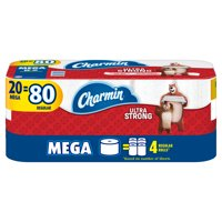 Charmin Ultra Strong Toilet Paper, 20 Mega Rolls = 80 Regular Rolls