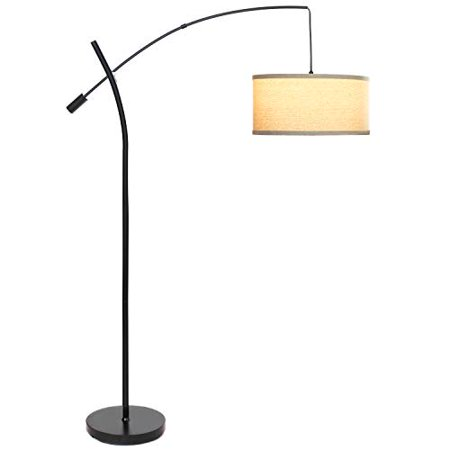 Super Brightech Grayson Led Arc Floor Lamp Tall Pole Standing Light Arches Over Living Room Sofa Or Over Bed Adjustable Arm With Hanging Pendant Shade Download Free Architecture Designs Jebrpmadebymaigaardcom