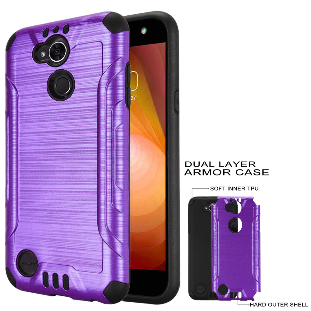pretty nice c50fe a0813 Phone Case for Straight Talk LG Fiesta 2, TracFone LG Fiesta Case, X  Charge, Power 2 Case / Power 3 Screen Protector with ShockProof Cover  (Combat ...