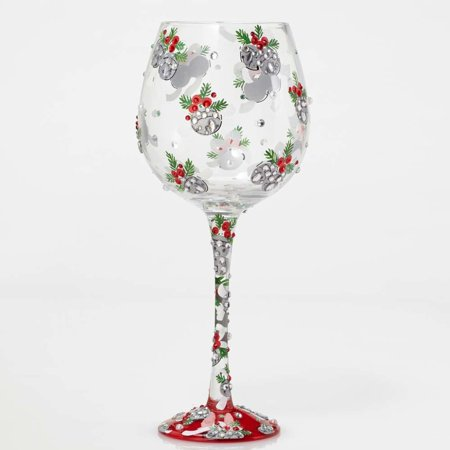 Bling Blingle Bells Bling Wine Glass By Lolita by