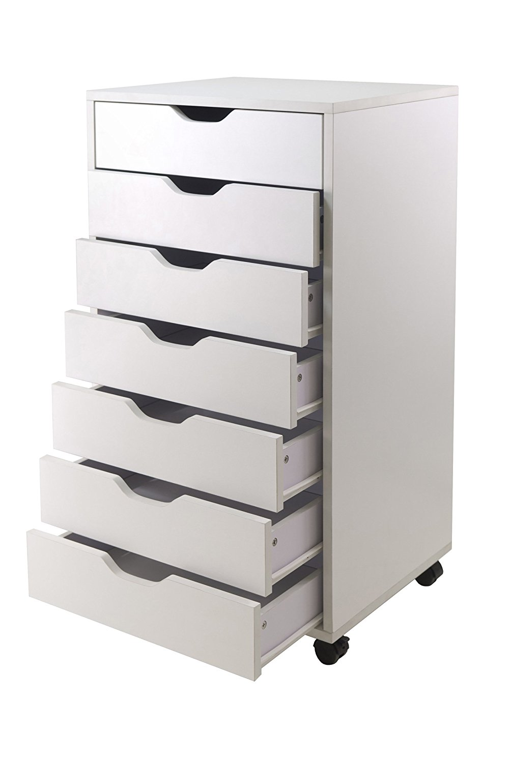 Winsome Halifax Cabinet For Closet Office 7 Drawers White