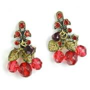 Sweet Romance  Retro Pinup Glass Cherry Vintage Earrings