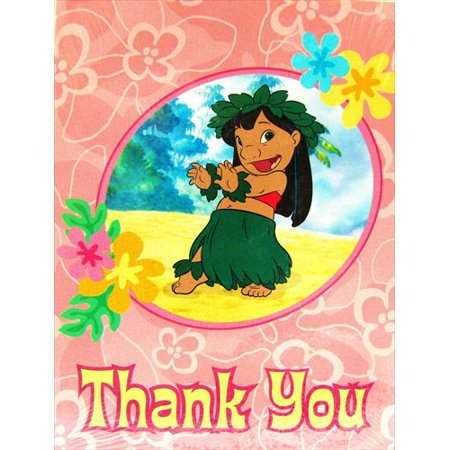 Lilo & Stitch Thank You Notes w/ Env. - Lilo And Stitch Birthday Supplies