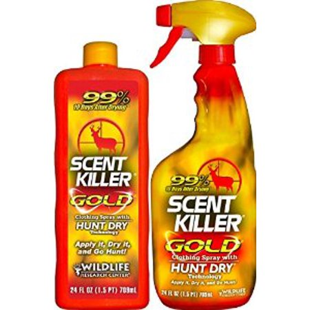 Wildlife Research Center Scent Killer Gold Spray Combo  24 Oz And 24 Oz Refill Bottle