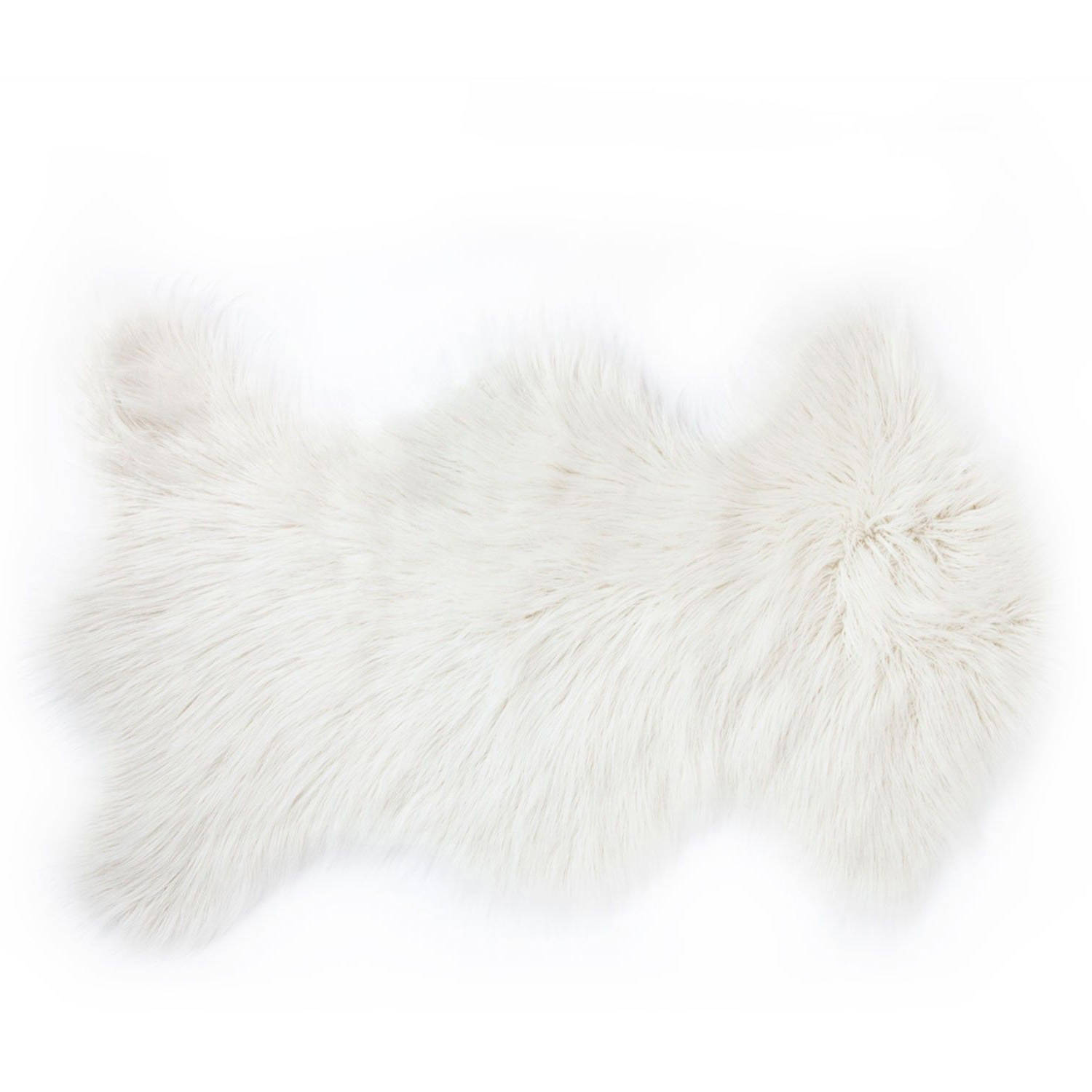 rockwall mongolian sheepskin faux fur single rug
