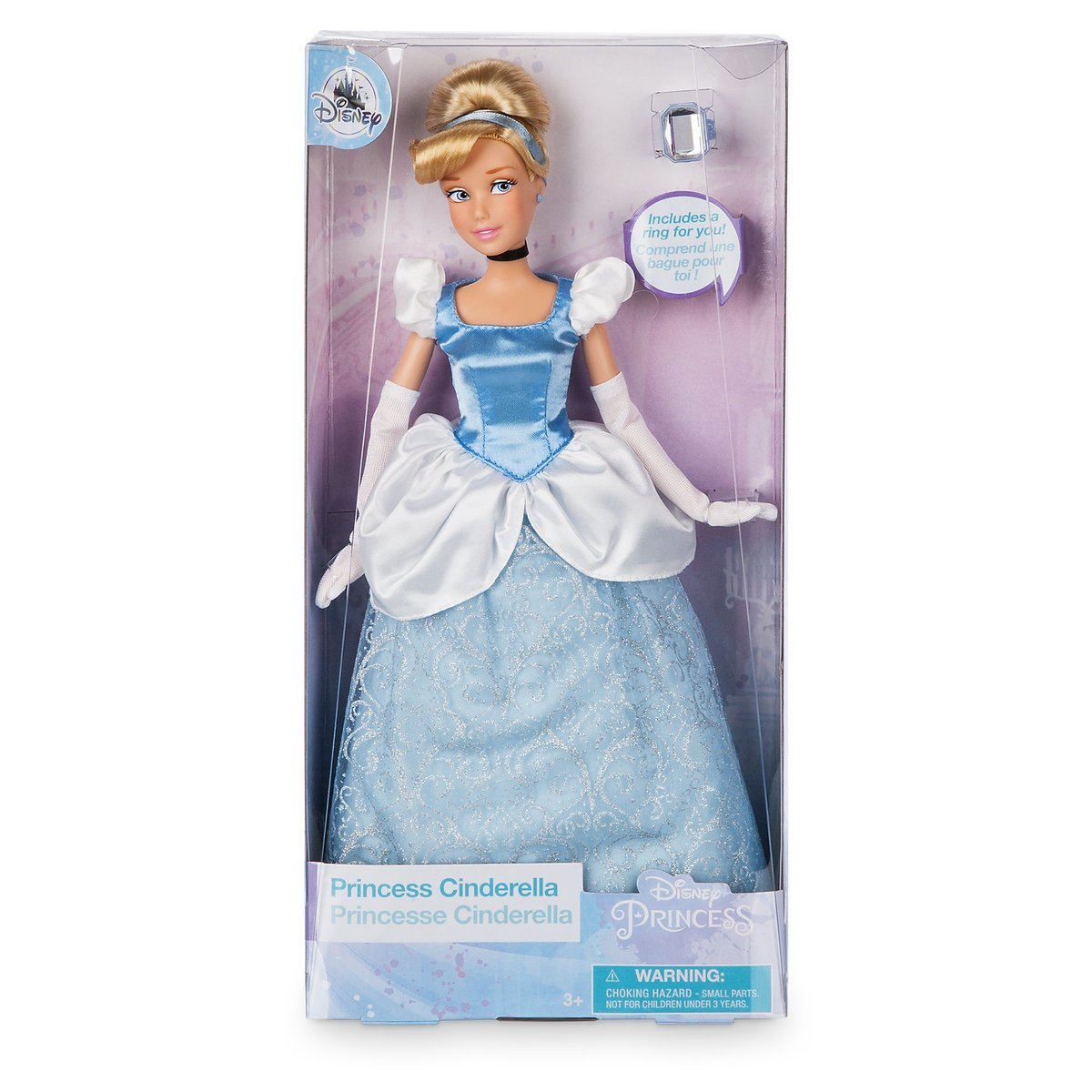 Disney Princess Cinderella Classic Doll with Ring New with Box