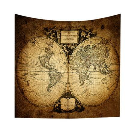 Mandala Boho Indian World Map Tapestry Wall Hanging Hippie Throw Bedspread Mat Decor