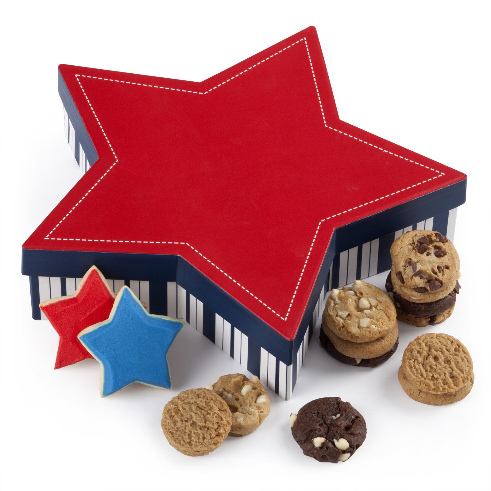 Mrs Fields Star and Stripes Cookie Box