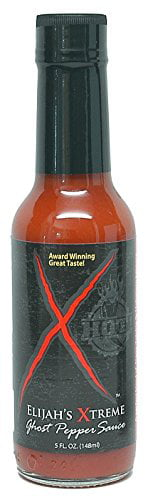 Elijah's Xtreme Ghost Pepper Sauce, Hot And Fiery Extreme Heat With Ultimate Gourmet... by Elijah's Xtreme Gourmet Sauces, Inc.