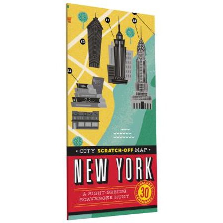 City Scratch-off Map: New York : A Sight-Seeing Scavenger Hunt (Halloween Scavenger Hunt Ideas Classroom)