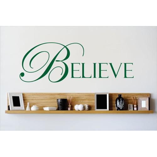 Design With Vinyl Believe Wall Decal