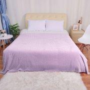 "Luxury Flannel Fleece Throw Blanket for Bed Light Purple 59"" x 78"""