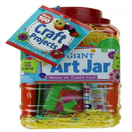 Bendon kids giant art jar over 100 craft projects for Walmart arts and crafts