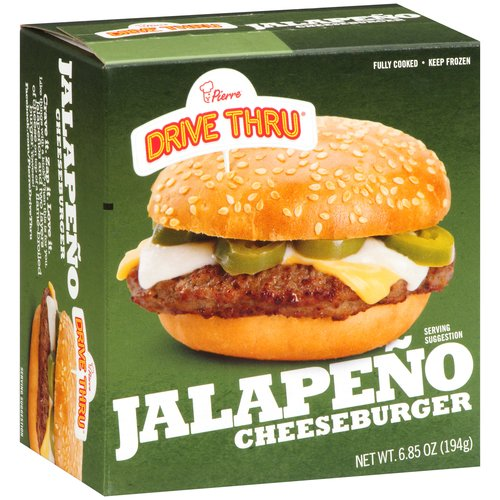 Pierre Drive Thru Jalapeno Cheeseburger, 6.85 oz