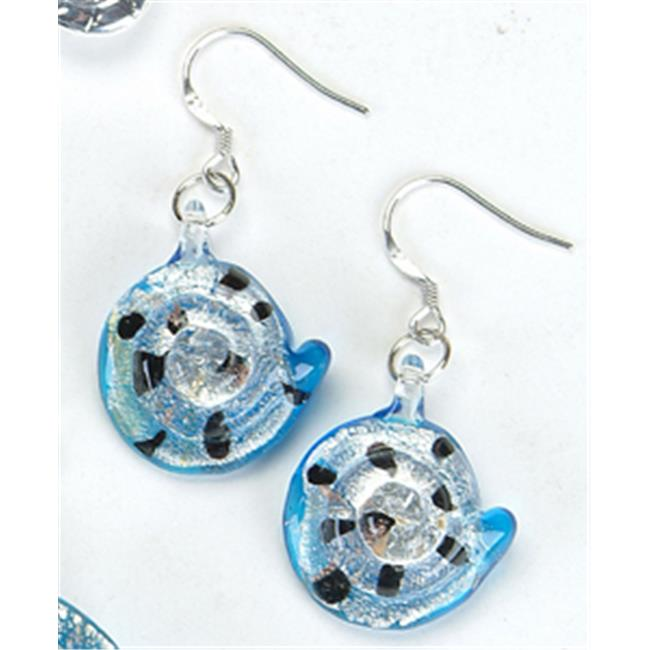 Unison Gifts KA-4380 Spiral Shell Turquoise Earrings