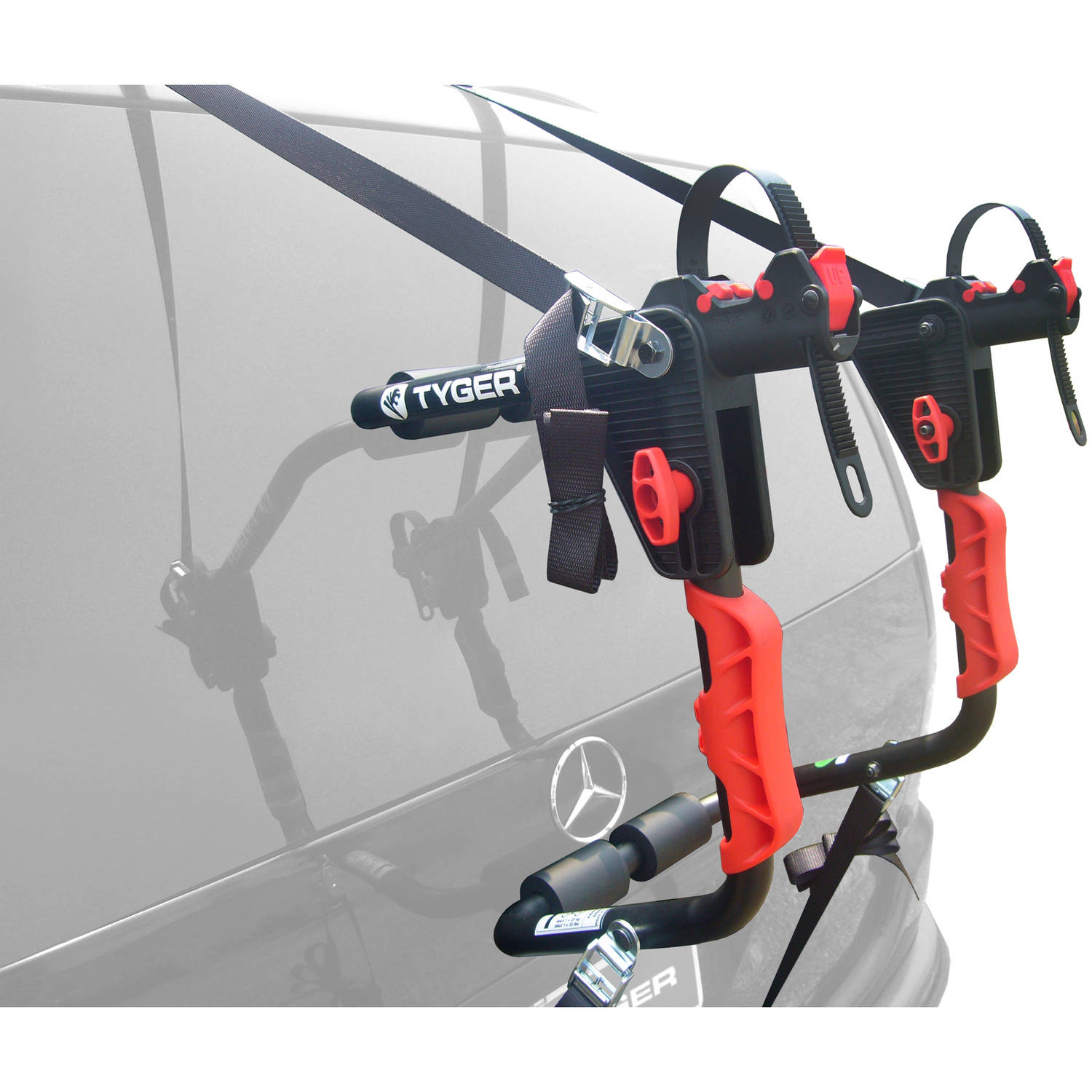 TYGER Deluxe Trunk Mount 1-Bike Carrier Rack for Sedan/Hatchback/SUV/Van, Black