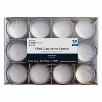 Mainstays Filled Votives, Unscented White, 12-Pack