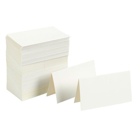 Best Paper Greetings Pack of 100 Place Cards - Small Tent Cards - Perfect for Weddings, Banquets, Events, 2 x 3.5 (Best Places To Register For Wedding)