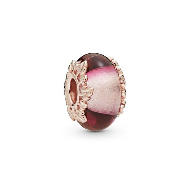 Pandora Pandora Leaves Pandora Rose Charm With Pink Murano Glass 788244 Walmart Com Walmart Com