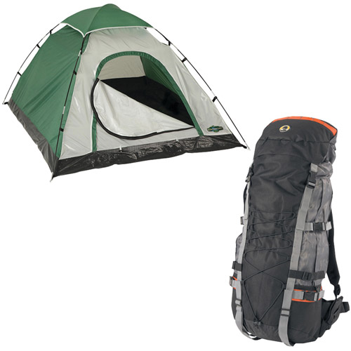 Stansport Willow Internal Frame Pack With Adventure Backpacker's Dome Tent