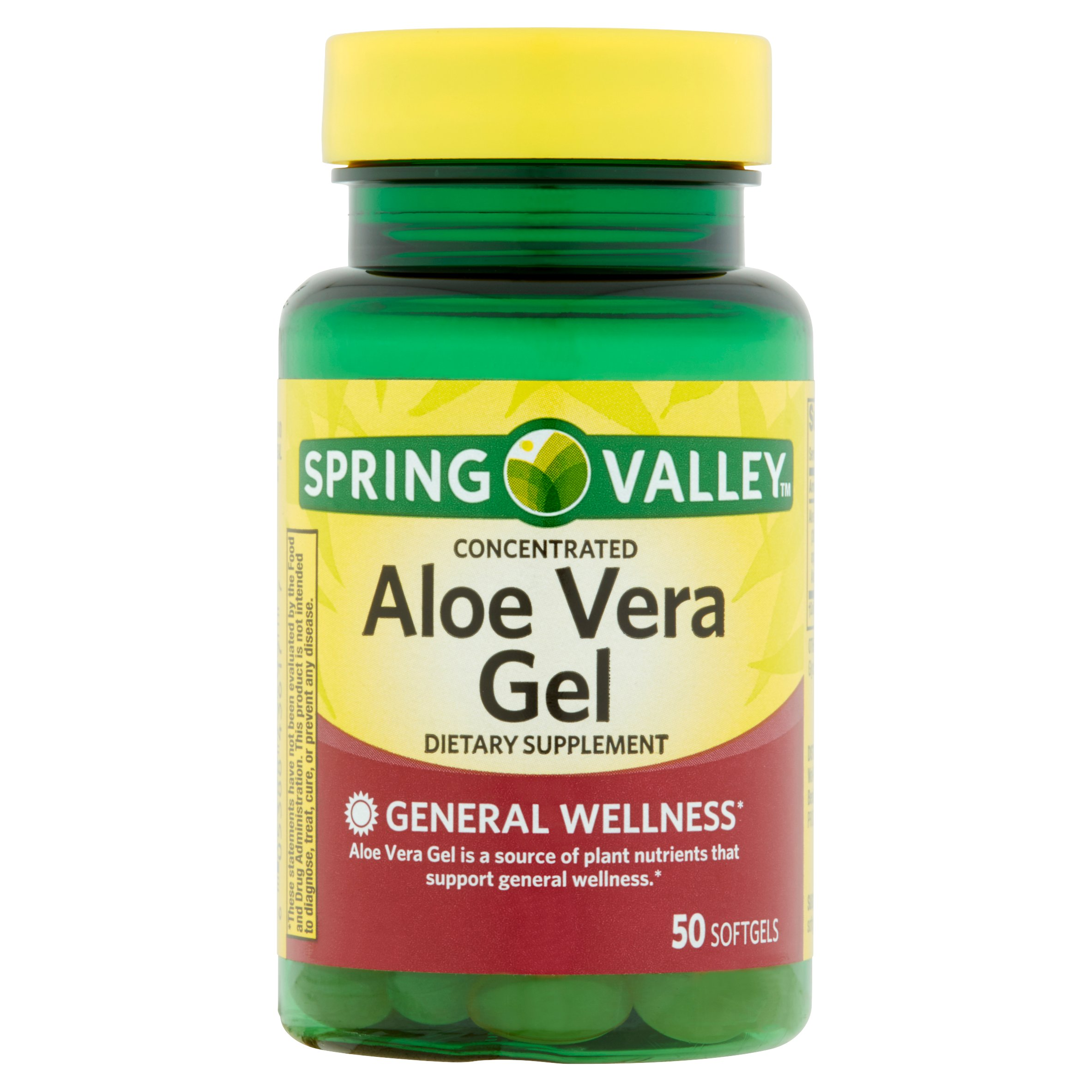 Spring Valley Aloe Vera Softgels, 25 mg, 50 Ct