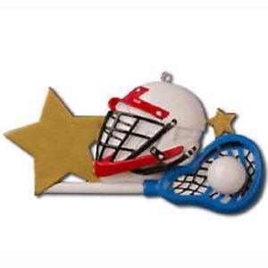 Lacrosse Helmet Sport Personalized Christmas Tree Ornament X-mass Noel