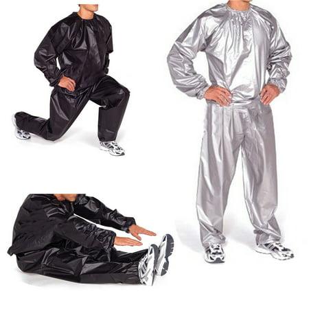 Heavy Duty Unisex Sauna Suit Weight Loss Fitness Sweat Suit Sauna Yoga Stretch Workout Suit Exercise Gym Size L 4xl