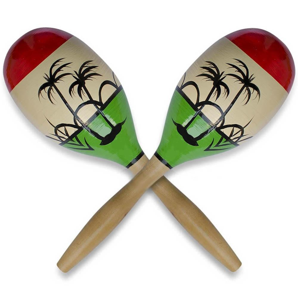 "11"" Set of 2 Crisp Rattle Large Wooden Mexican Maracas by BestPysanky"